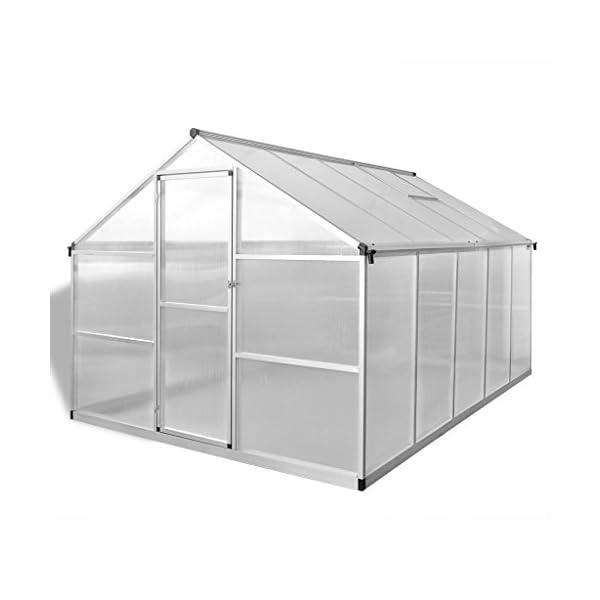 Tidyard Serra in Alluminio Rinforzato con Telaio di Base 7,55 m²,per Piante orto casetta Esterno 2 spesavip
