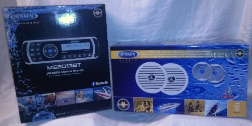 Jensen MS2013BT Marine Bluetooth Audio System + MSX65R 6.5
