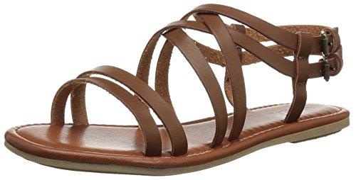 MIA Women's Thunder Flat Sandal Cognac NubUOPk