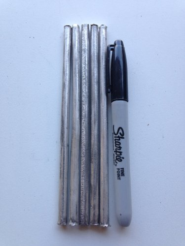 Magnesium Metal Rods 99.95%, 5 pieces, 6.5mm x 152mm (1/4″ x 6″), Solution Materials, LLC,!