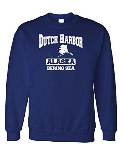 Dutch Harbor Bering SEA - Alaska Crab Fish - Fleece Sweatshirt, 2XL, Navy