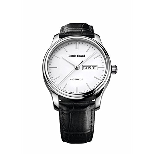 LOUIS ERARD MEN'S 40MM LEATHER BAND STEEL CASE AUTOMATIC WATCH 72268AA10.BDC02