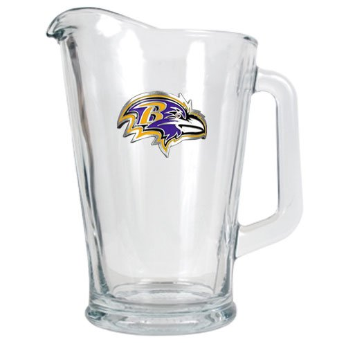 BSS - Baltimore Ravens NFL 60oz Glass Pitcher - Primary Logo