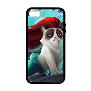 Grumpy Cat and Disney the Little Mermaid for Case For Iphone 6 4.7 Inch Cover protective Durable black case