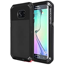 Galaxy S6 Edge Case, Seacosmo Full Body Military Rugged Heavy Duty Aluminum Shockproof Dual Layer Bumper Case Cover for Samsung Galaxy S6 Edge, Black