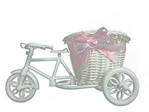 Hand made beautiful Bike Vase white color size. 21x13x11cm