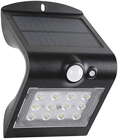 Helios Tool Solar Powered Motion IP65 Waterproof Outdoor Fence Post Lighting with Multiple Setting 4, Black – 1.5W