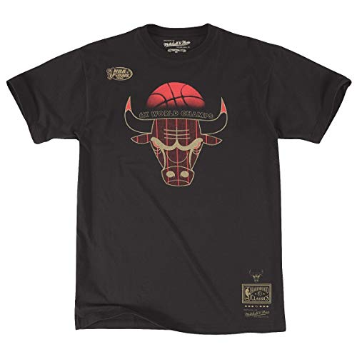Mitchell & Ness Chicago Bulls Men's NBA 6X Champs Premium Short Sleeve T-Shirt