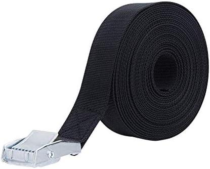 荷締めベルト 荷締機 地震対策グッズ 荷締めバンド 締付固定 固定バンド 多用途 幅25mm 長さ5m (黒)
