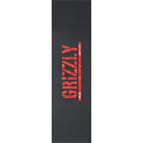 グリップテープGrizzly MSA Camoスタンプブラック/レッドCamo Griptape – 9