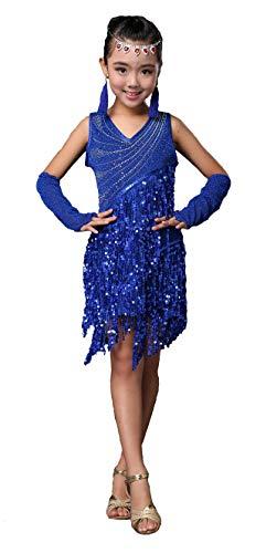 Salsa Costumes For Kids - Forgrace Girls Sparkling Sequin Tassels Latin