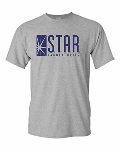Lab Adult T-shirt (Star Labs Adult DT T-Shirt Tee (L, Gray))