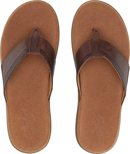 SPERRY Men's, Gold Cup Amalfi Flip Flop Sandals Brown 10 M
