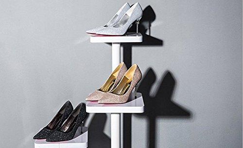 Nuevos Zapatos Primavera Zapatos De De Fang De De Zapatos Mujer Zapatos 2018 SDUDIO Boda Tac Mujer Diamantes De nYqwx5pwg