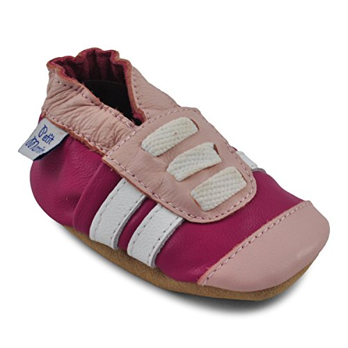 Petit Marin Beautiful Soft Leather Baby Shoes with Suede Soles – Toddler / Infant Shoes - Crib Shoes – Baby First Walking Shoes - Pre-walker Shoes - 40 Designs (Girls Shoes Suede)