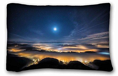 [Custom Characteristic ( Landscapes uetliberg Swiss mountain plateau near Zurich night ) DIY Pillow Cover Size 20