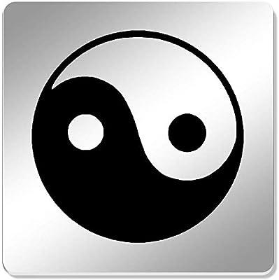 Azeeda 6 x Símbolo de Yin Yang Cuadrado Espejo Posavasos ...