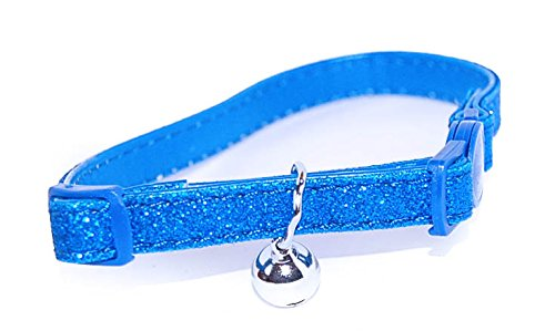 Pet Palace Glitter Collar For Cats Who Relish The Nightlife Brash Blue