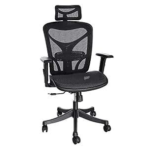 ANCHEER Ergonomic Office Chair, High Back Mesh Office Chair with Adjustable Lumbar Support,Armrest and Headrest ( BIMFA Certified )