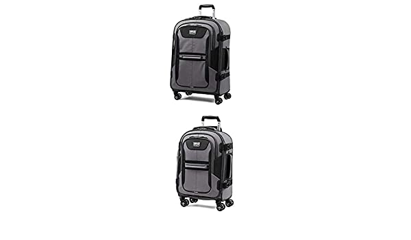 Travelpro Bold Expandable Spinner Luggage 21 Carry-on + 26Checked-Medium, Gray//Black