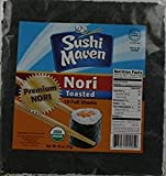 Sushi Maven Roasted Nori Organic Seaweed 78 Oz. Pack Of 3.