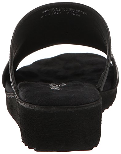 Women's Black Hartford Walking Blk Cradles Flat Sandal vwx8f