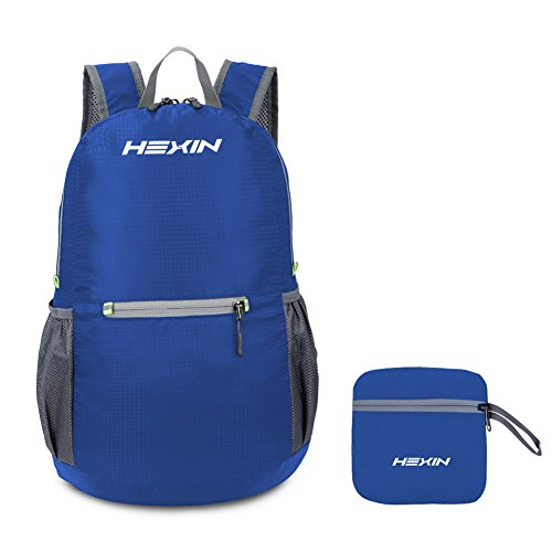 HEXIN Hiking Daypack 20L Best Durable Travel Backpacks Blue (Tactical Handheld Computer Case)