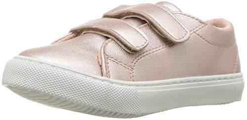 Nine West Girls' Adria Sneaker, Rose Gold/Metallic, M075 M US Toddler