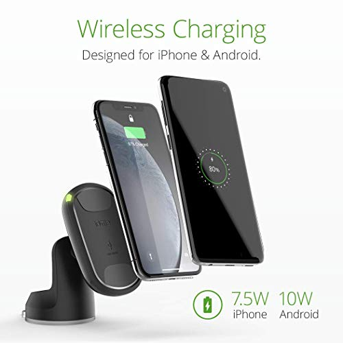 iOttie iTap 2 Wireless Magnetic Qi Wireless Charging Dashboard Mount    Compatible with iPhone Xs XR X Max Samsung S10 S9 + Smartphones   + Dual Car Charger by iOttie (Image #3)