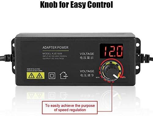 Tonysa 60W 5A 3-12V Adaptador de Fuente de Alimentaci/ón Regulable de Control de Velocidad del Motor de Voltaje Ajustable EU 100-240V,
