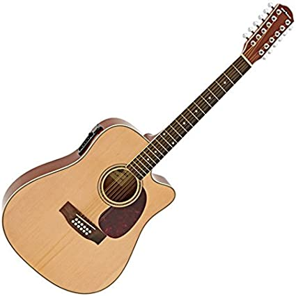 Guitarra Electroacustica Dreadnought de 12 Cuerdas de Gear4music
