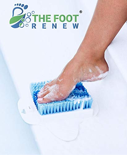 Purpose Floor - The Foot Renew by Sole Purpose Products - Shower Foot Scrubber Massager - Suction to Floor - Foot Cleaning Spa - Foot Brush w/Hanging Hook Included
