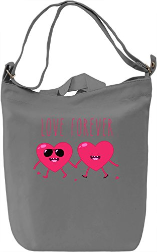 Love Forever Borsa Giornaliera Canvas Canvas Day Bag| 100% Premium Cotton Canvas| DTG Printing|