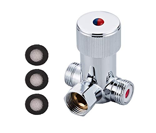 Gangang Hot & Cold Water Mixing Valve Temperature Control Thermostatic Mixer for Automatic Sensor ()