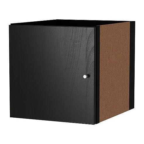 Ikea Kallax Einsatz Mit Tür In Schwarzbraun; (33X33Cm); Kompatibel