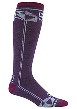 Wigwam Knee High Ski Socks Snow Prism, Purple, MS