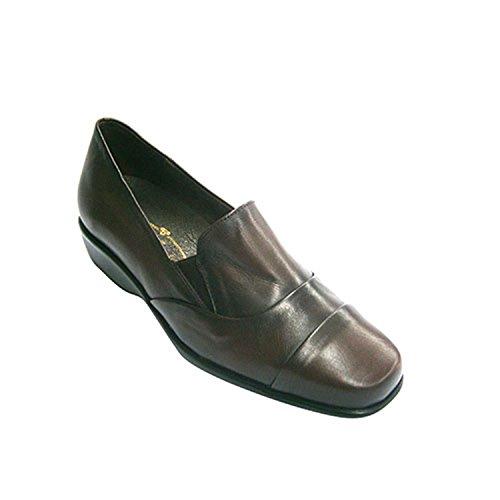 Caoutchouc Bordeaux Pelle Chaussures Grande De Une Avec Femme En Vazquez Des Pomares Bandes vwAq7a4