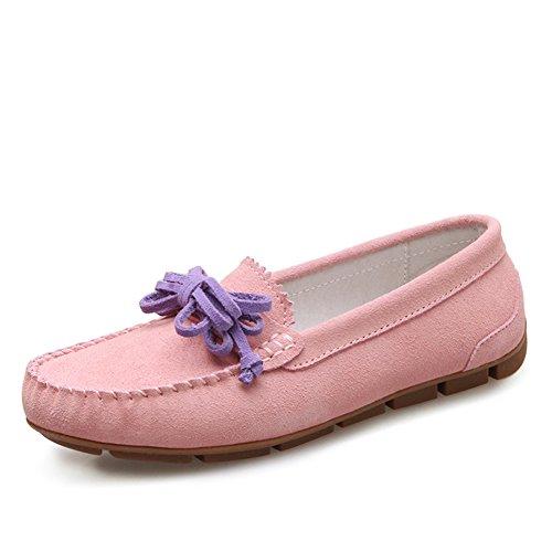 Zapatos De Mujer De Estilo Británico,Manoletinas,Mujer Casual Zapatos De Cuero De La Luz,Zapatos Del Bromista Del E