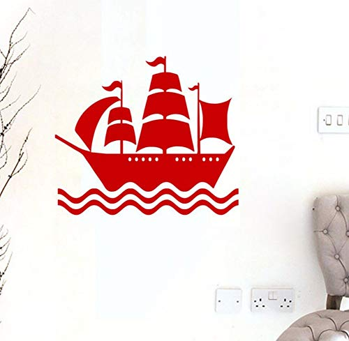 LSFHB Pirate Ship Wall Stickers Kids Bedroom Wall Decor Vinyl Art Wall Decals Removable Sticker for Nursery 59X68Cm ()