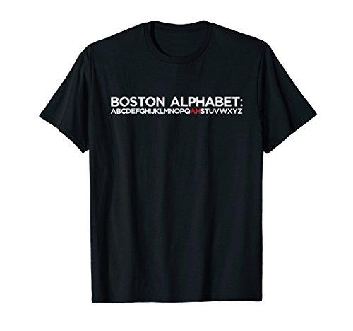 - Funny Baseball Massachusetts Boston Alphabet T-Shirt