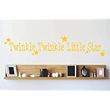Decal - Vinyl Wall Sticker : Twinkle twinkle Little Star Quote Home Living Room Bedroom Decor DISCOUNTED SALE ITEM - 22 Colors Available Size: 6 Inches X 30 Inches