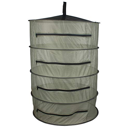YIDIE 3-Ft 4-Layer Herb Drying Rack Hanging Collapsible Mesh