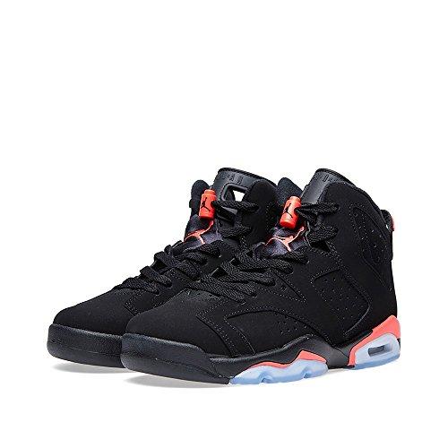 ebc256344dde Air Jordan 6 Retro BG Big Kids Shoes Black Infrared 384665-023 (7 M US) -  Buy Online in Oman.