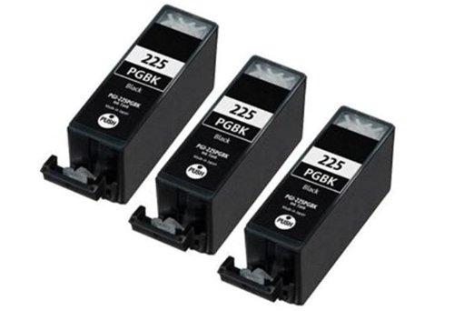 3 Pack Elite Supplies ® Compatible Inkjet Cartridge Replacement for PGI-225, Canon PGI-225BK Black Works With Canon PIXMA IP4820, PIXMA ip4920, PIXMA IX6520, PIXMA MG5120, PIXMA MG5220, PIXMA MG5320, PIXMA MG6120, PIXMA MG6220, PIXMA MG8120, PIXMA MG8120