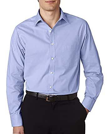 Van Heusen Men's Long-Sleeve Feather Stripe, Blue, XXX-Large
