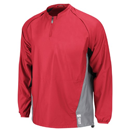 Majestic Coolbase Convertible Triple Peak Gamer Jacket (Adult Medium, Pro Scarlet/Pro Silver)