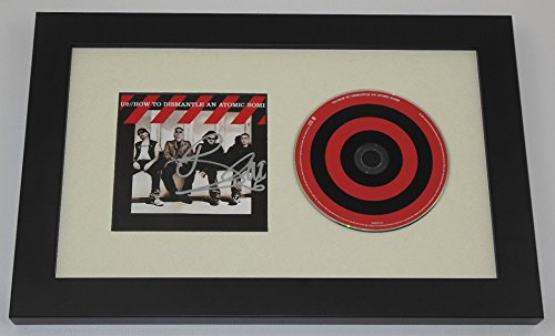 U2 How To Dismantle an Atomic Bomb Bono Signed Autographed Music Cd Cover Compact Disc Framed Display Loa