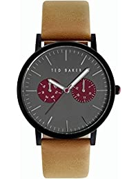 Ted Baker Men's Smart Casual Leather Gunmetal Grey Watch