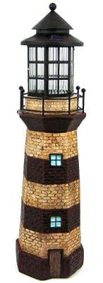 Solar Lighthouse Tower Solar Light GREEN / IVORY 39