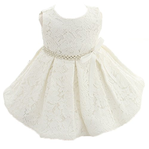 - ADHS Infant Newborn Kids Baby Girls Special Occasion Summer Dresses(Ivory,6-12M)